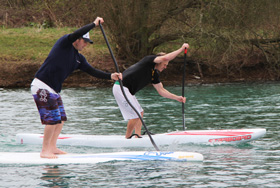 Stand up paddleboard racing