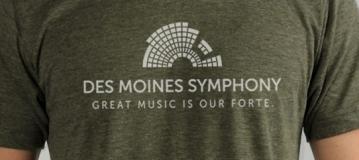 Des Moines Symphony t-shirts