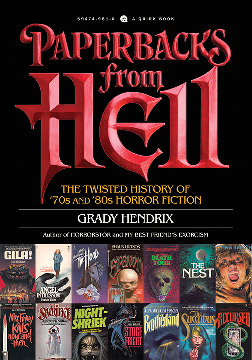 Author Grady Hendrix Awarded by the Horror Writers Association!!!