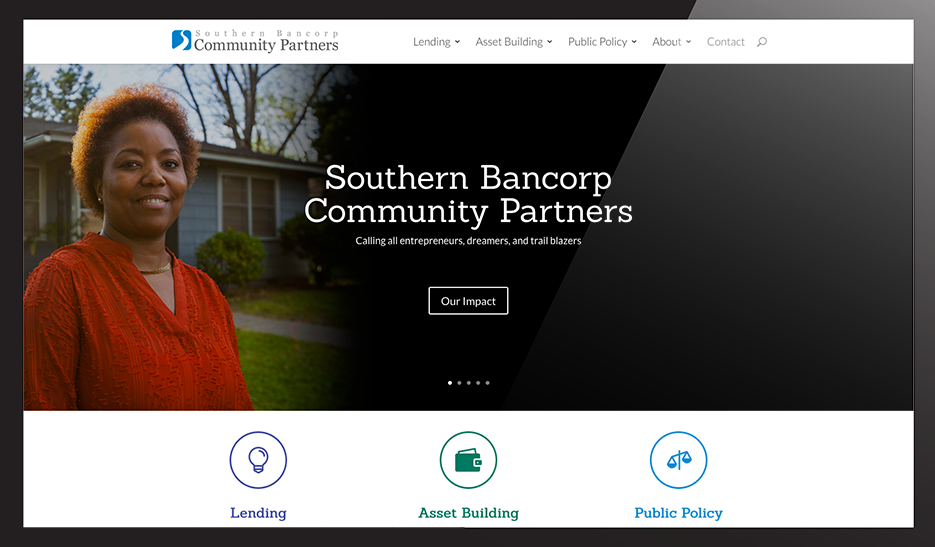 Southern Bancorp Community Partners new website