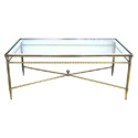 50084 french mid-century neoclassical style brass cocktail table