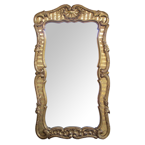 4342 a well-carved and good quality english george ii baroque style giltwood mirror late 19th century