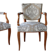 Leleu chairs a chic set of 4 french art deco beechwood arm chairs in the style of jules leleu circa 1930