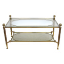 50043 brass glass 1960s cocktail table