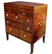 a handsome george iii mahogany gentleman's dresser circa 1800