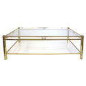 50045 french 1970's neogothic-inspired rectangular brass coffee table