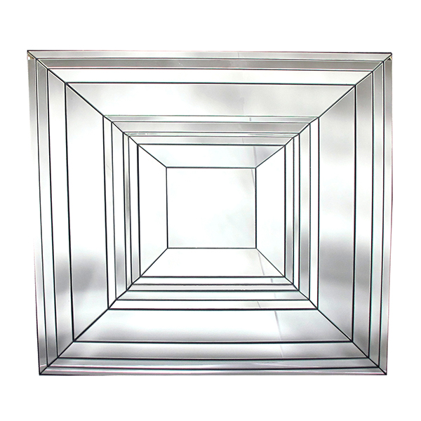 50058 a brilliant french 1970's square-form beveled mirror 1970's