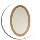 50066 a good quallity italian 1970's fontana arte style oval mirror with smoky glass border 1970's