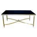4319 french 1960s maison jansen rectangular brass cocktail table