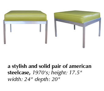 a stylish and solid pair of american steelcase, 1970's