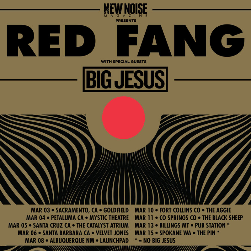 Red Fang Big Jesus Tour