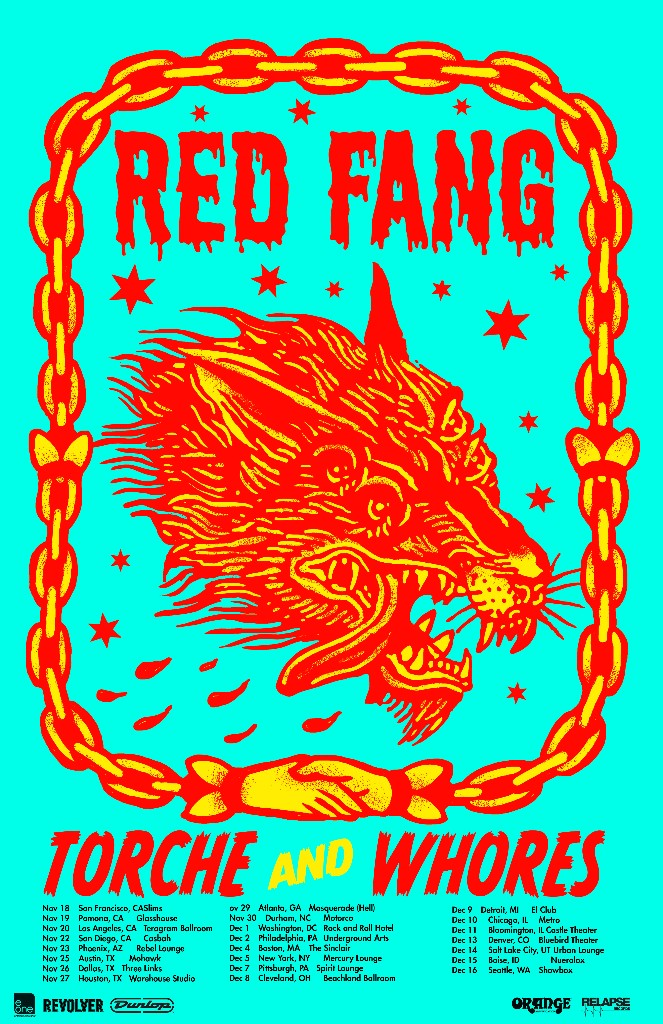 Red Fang Announce US Tour, Music Featured on PBR Pinball Machine
