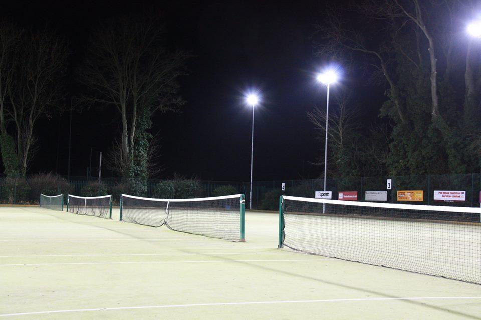 Floodlit courts at Pocklington Tennis Club