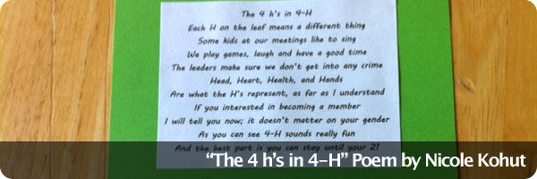 4-H Poem by Nicole