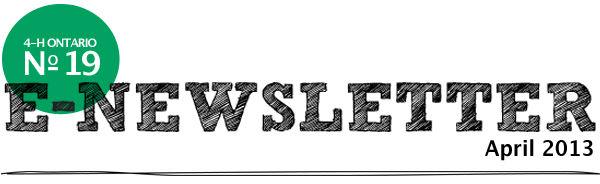 April 2013 E-Newsletter