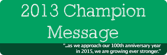 2013 Champion Message