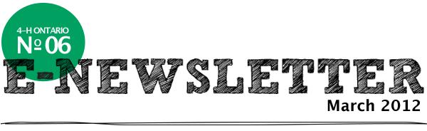 4-H Ontario E-Newsletter