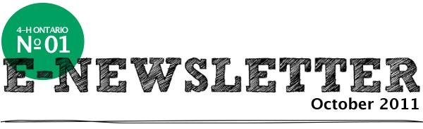 4-H Ontario E=Newsletter