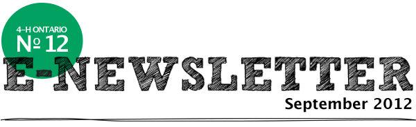 September 2012 E-Newsletter
