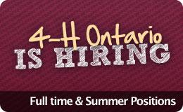 4-H Ontario is hiring