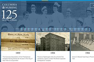Columbia Nursing's anniversary website