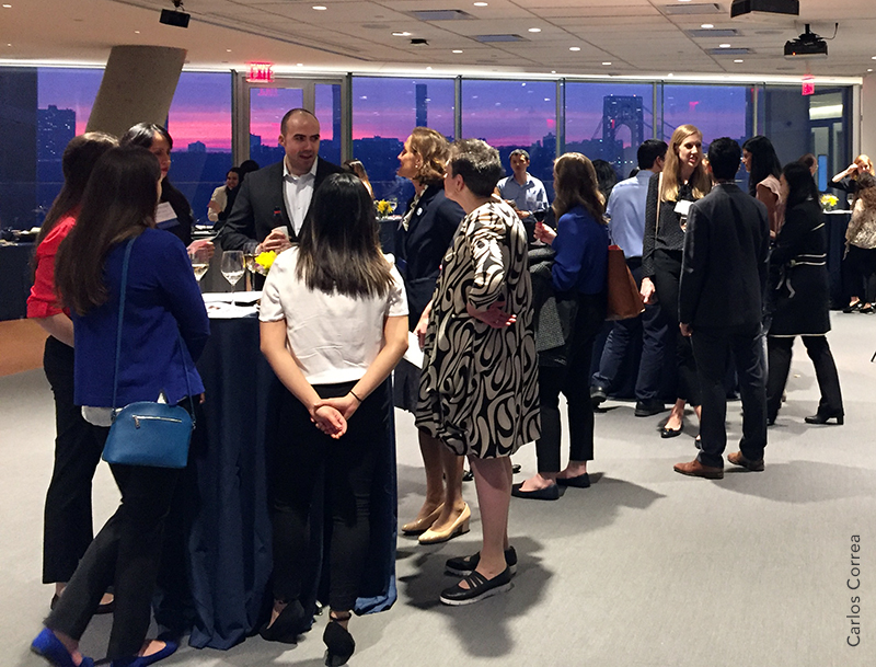 Mailman students and alumni at 4/5 networking event (Carlos Correa)