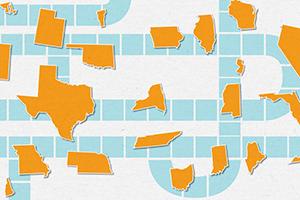 States along a path