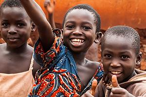 Happy African children