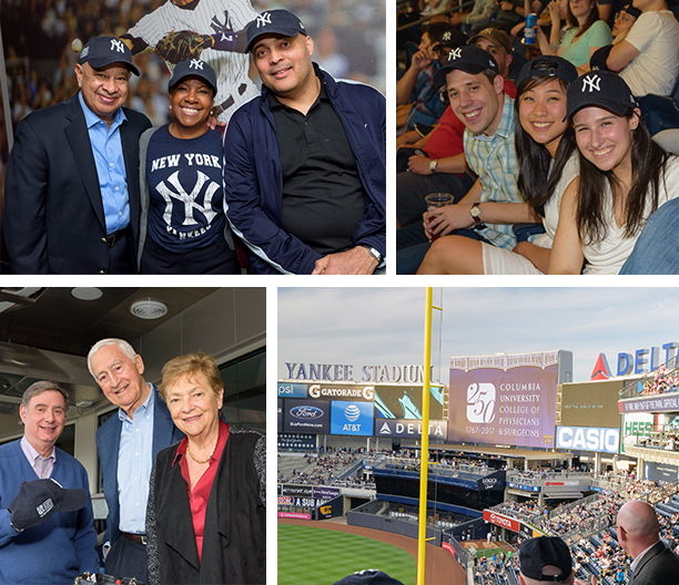 Photo collage from Yankees Game