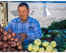 Farmer's market vendor (credit: Robert Moschetta)