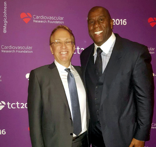 Gregg Stone and Magic Johnson