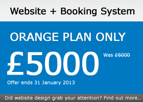 Website and Booking System for £5000