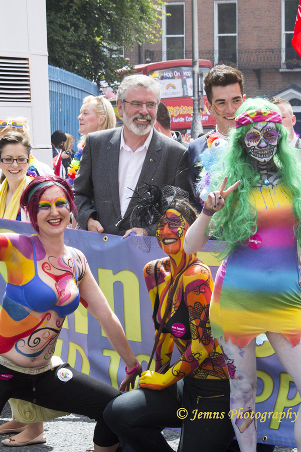 body painted girls at Dublin Pride 2014