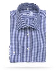 Regent Slim Cut Shirt - Navy Gingham Check