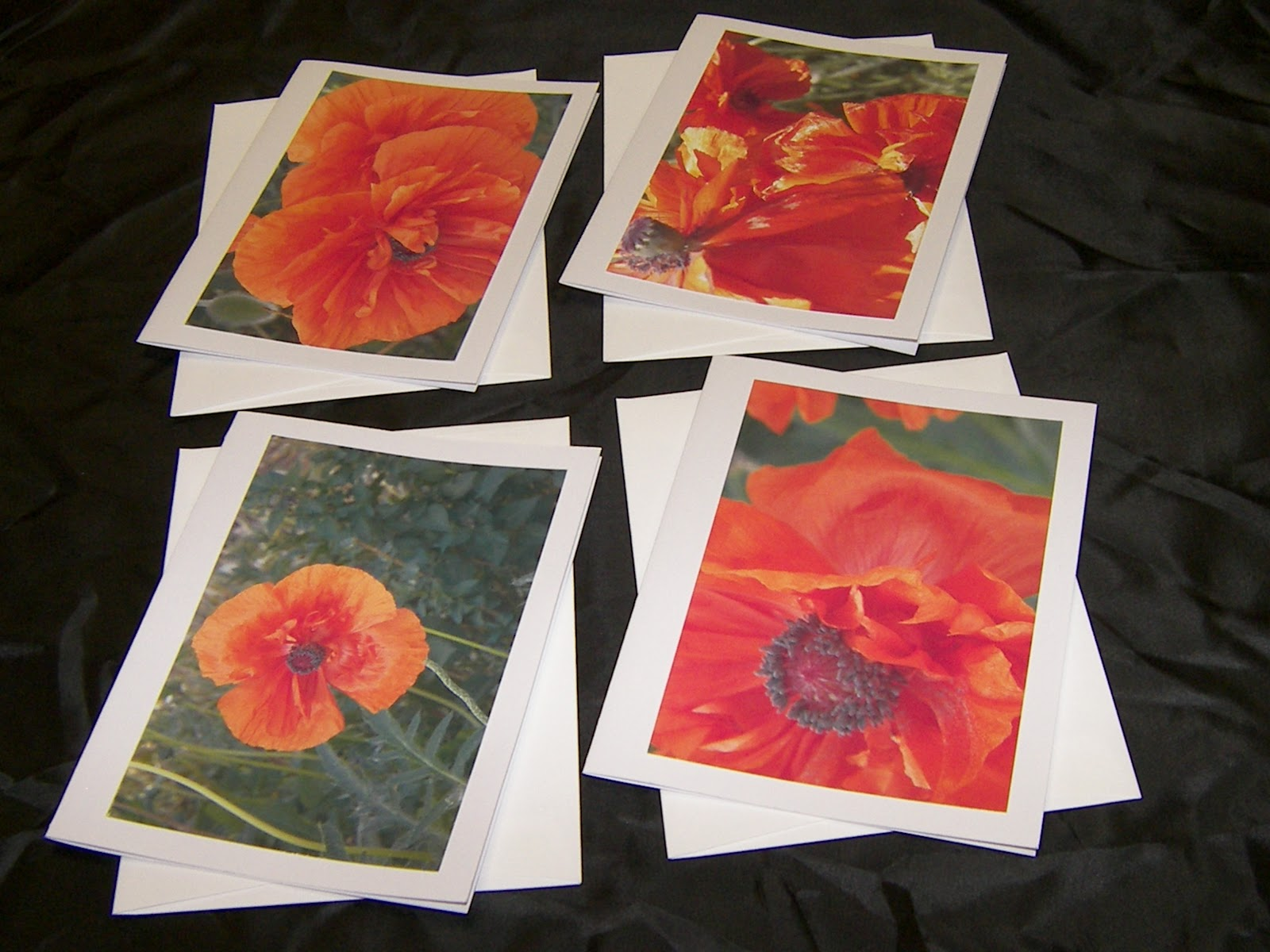 Pretty Poppies notecard set
