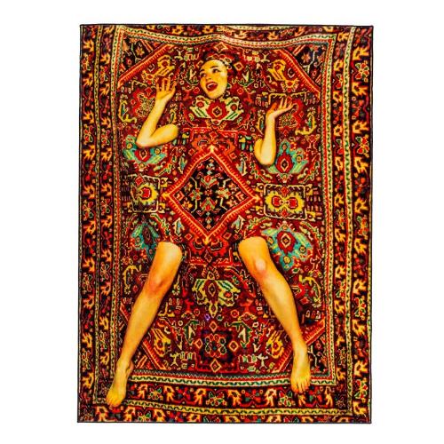 Lady On A Carpet - Rectangular Rug