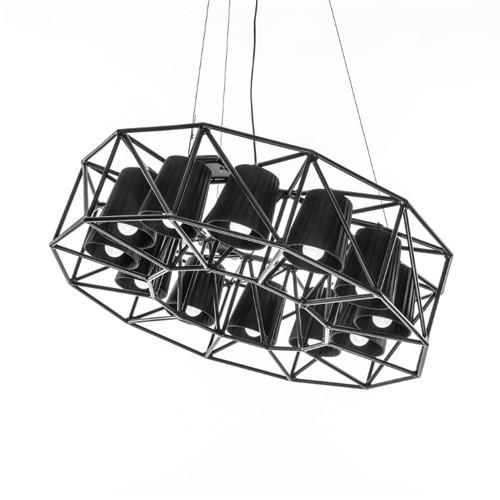 Multilamp Ring Hanging Metal Lamp