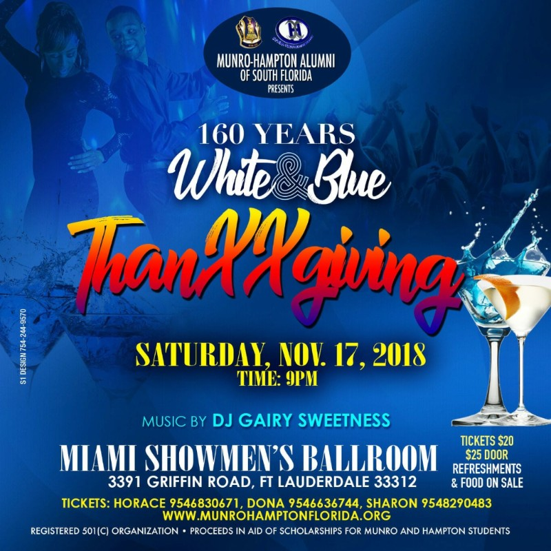 160 Years White & Blue Thanxxgiving