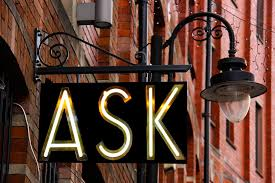 A Sign With the Word Ask Illuminated - Kathbern Management Toronto Recruiting Agency