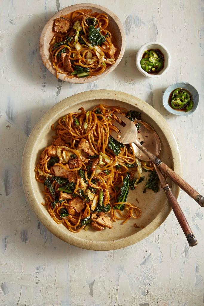 Malaysian wok-fried spaghetti