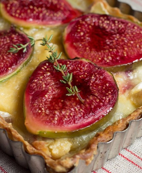 Fig & Camembert tart
