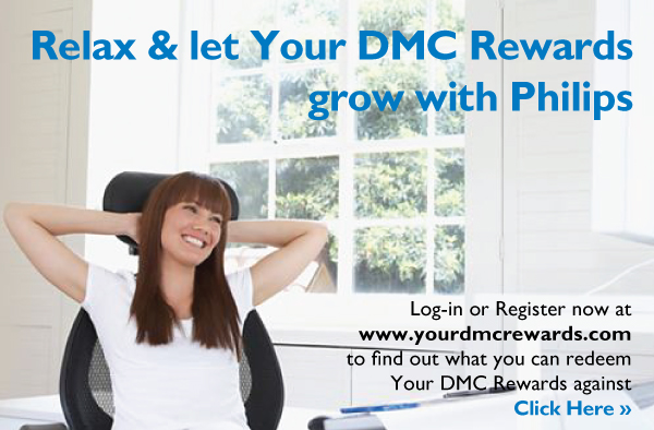 Log-in or Register now at www.yourdmcrewards.com to find out what you can redeem Your DMC Rewards against