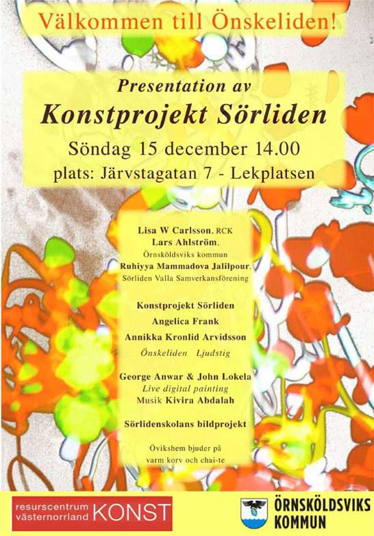 Affisch konstprojekt Sörliden