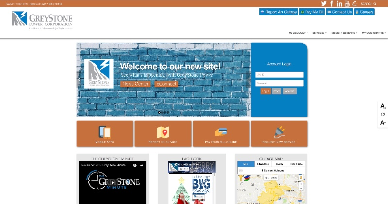 New web site screen shot 12.2017