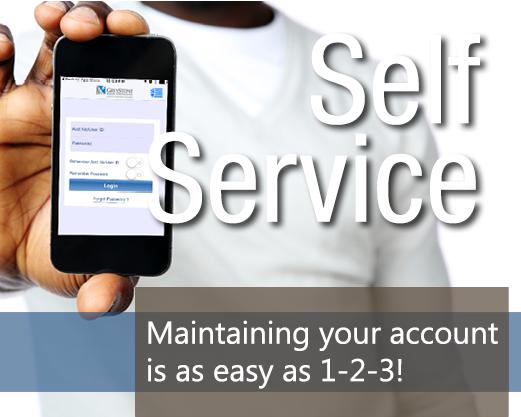 Self-service button