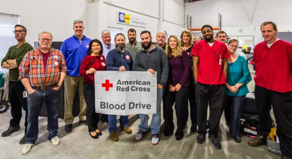 Staff who donated blood