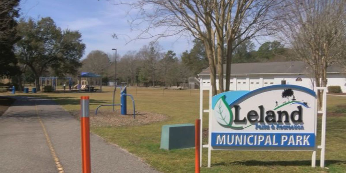 Leland Municipal Park sign