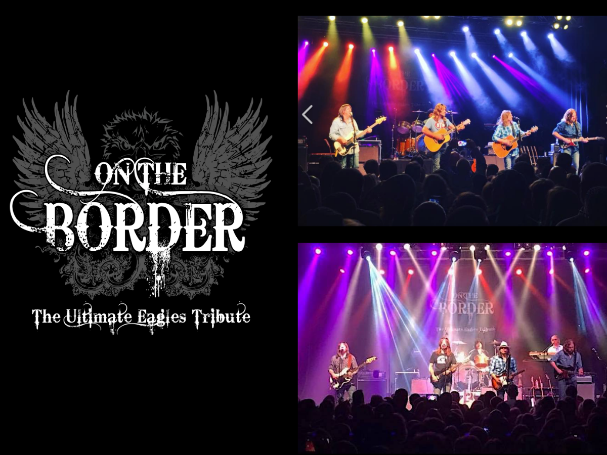 On the Border flyer with photos of live performances