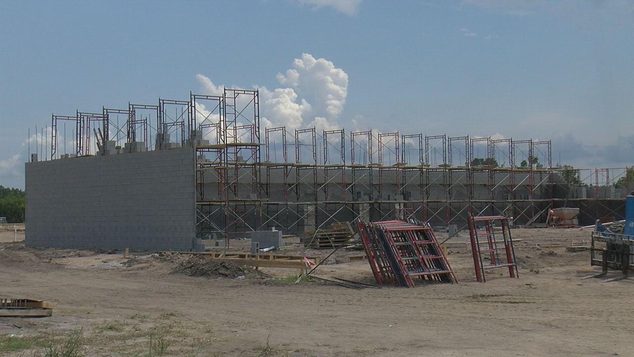 Construction of Leland Town Center
