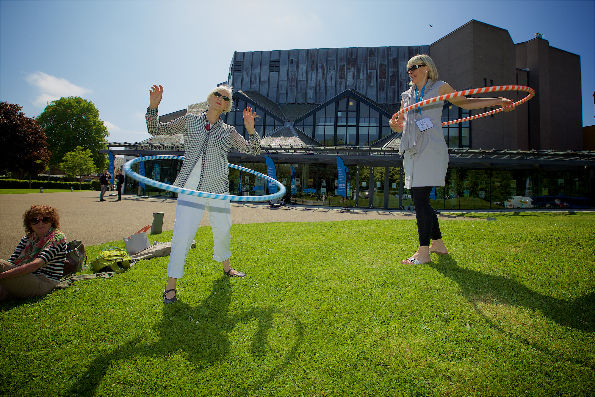 Hula Hoopin in the sun at XpoNorth 2016
